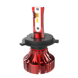 I8 Fanless Mini LED Headlight H4 Hi/Low Beam 20W/4000LM Philips ZES Chips LED Auto Bulb