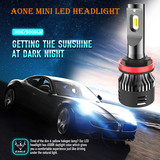 Aone Mini LED Headlight H8 H9 H11 H16(JP) 30W/5000lm LED Auto Bulb 6500K